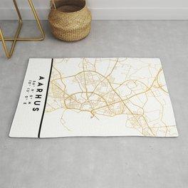 AARHUS DENMARK CITY STREET MAP ART Rug