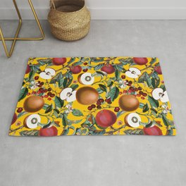 Vintage Fruit Pattern V Rug