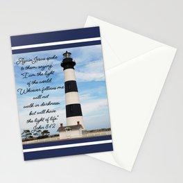 Bodie Island Lighthouse-North Carolina -With John 8:12 Stationery Cards