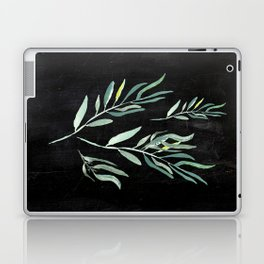 Eucalyptus Branches On Chalkboard II Laptop & iPad Skin