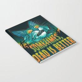 scott robertson orange sometimes dead is better t-shirt tank top   sticker  print art Notebook