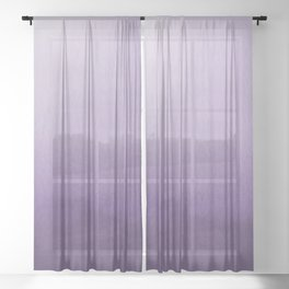 Inspired by Pantone Chive Blossom Purple 18-3634 Watercolor Abstract Art Sheer Curtain