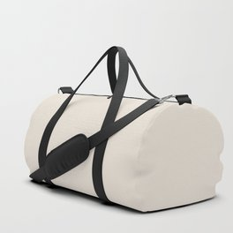Sherwin Williams Trending Colors of 2019 Porcelain (Off White / Cream / Ivory) SW 0053 Solid Color Duffle Bag
