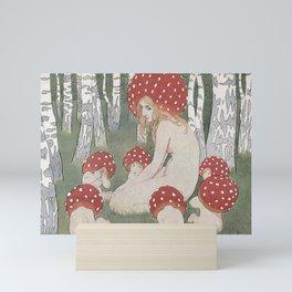 MOTHER MUSHROOM WITH HER CHILDREN - EDWARD OKUN Mini Art Print