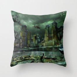 Brisbane Siege Throw Pillow