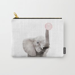Bubble Gum Baby Elephant Carry-All Pouch