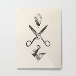 PLAY / Rock Scissors Paper - vintage Metal Print