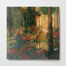 'Garden of Enchantment from Parsifal' by Thomas Mostyn Metal Print