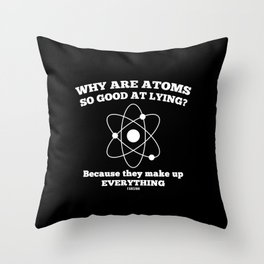 Science research award gift Throw Pillow