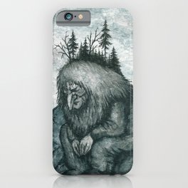 The Pondering Troll iPhone Case