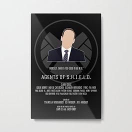 Agents of S.H.I.E.L.D. - Coulson Metal Print