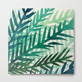 Emerald Forest Weekend - Nature Watercolor Metal Print