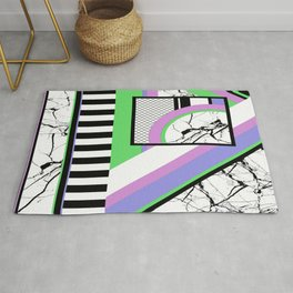 AMPS Deux - Abstract, Marble, Pastel, Stripes Rug