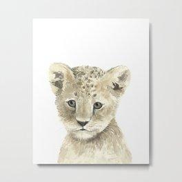 Lion Cub Metal Print