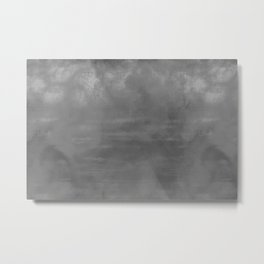 Burst of Color Gray Abstract Sponge Art Blend Texture Metal Print