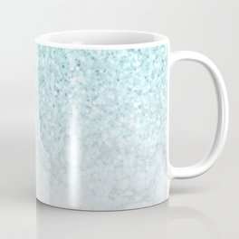 Turquoise Glitter and Marble Coffee Mug