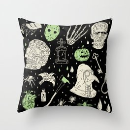 Whole Lot More Horror: BLK Ed. Throw Pillow