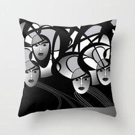 oriental women Throw Pillow