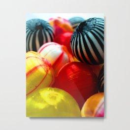 Sweet Striped Candy Swirls  Metal Print