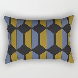 Hexagonal Pattern - Sundown Rectangular Pillow