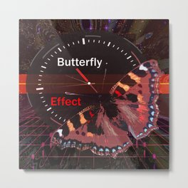 Butterfly effect. Time travel Metal Print