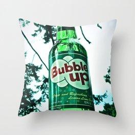 Refreshing Bubble Up soda Throw Pillow
