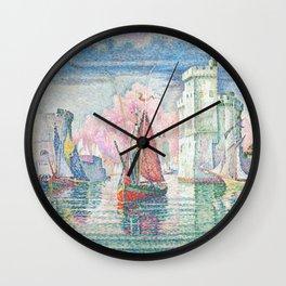 The Port Of La Rochelle, Paul Signac, 1921 Wall Clock