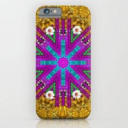 Golden retro medival festive fantasy nature iPhone Case