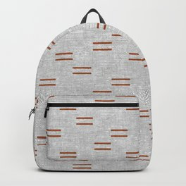 double dash - rust on greige Backpack