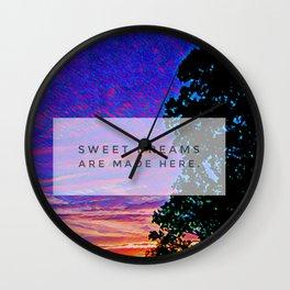 Aloha. Sweet Dreams Are Made Here Wall Clock