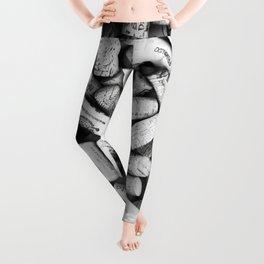 Something Nostalgic II Twist-off Wine Corks in Black And White #decor #society6 #buyart Leggings
