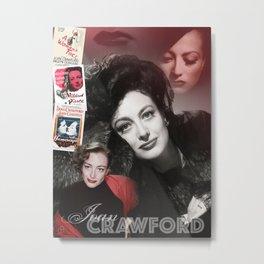 Joan Crawford Collage Portrait Metal Print