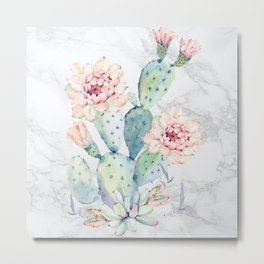 Prettiest Cactus Rose Marble by Nature Magick Metal Print