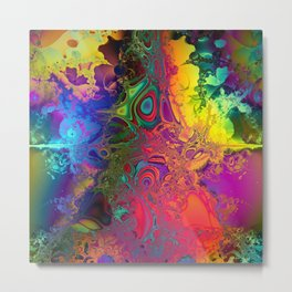 Color Explosion Psychedelic Abstract Art 2 Metal Print