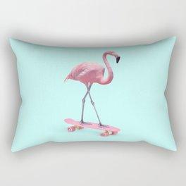 SKATE FLAMINGO Rectangular Pillow