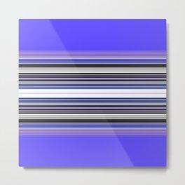 Bright bold Blue And Purple Stripe Metal Print