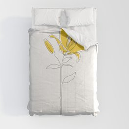 Mustard Lily Comforters