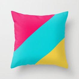 Neon Pastel Stripes Throw Pillow
