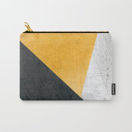 Modern Yellow & Black Geometric Carry-All Pouch