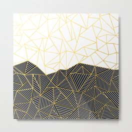 Ab Half and Half White Gold Metal Print