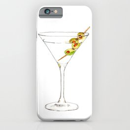 Cocktails. Martini. Watercolor Painting. iPhone Case