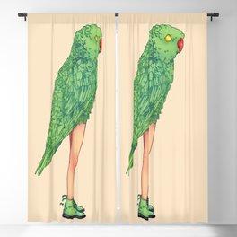 Green parrot Blackout Curtain