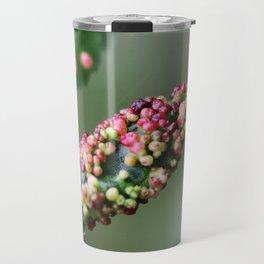 Alder leaf with pink boils Travel Mug