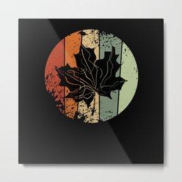 Maple Leaf Autumn Vintage Metal Print