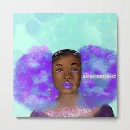 Cosmic Afro Puffs Metal Print