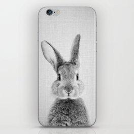 Rabbit - Black & White iPhone Skin