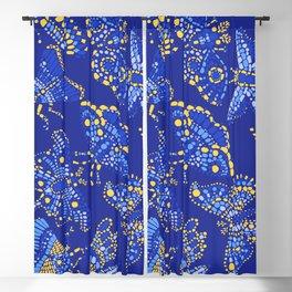 Butterfly Pattern Blue Blackout Curtain