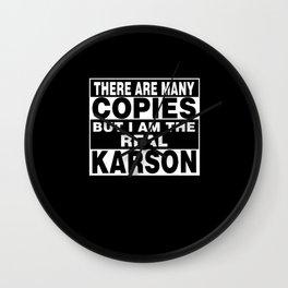 I Am Karson Funny Personal Personalized Fun Wall Clock