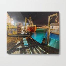 Light in the Wharf Metal Print