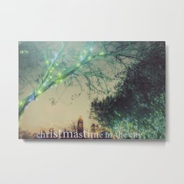 Christmastime In The City Metal Print